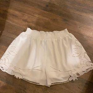 Flowy white shorts